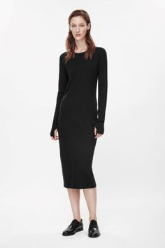 Long cotton-wool dress