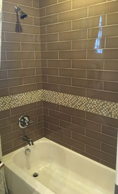 Brown Glass Subway Tile for Bathroom Shower