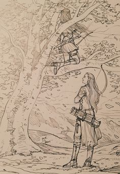 Just another day in mirkwood - Tauriel and Legolas