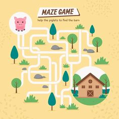 Mazes For Kids, Worksheets For Kids, Activities For Kids, Labyrinth Game, English Grammar For Kids, Maze Game, Pot Of Gold, Vector Free, Kids Worksheets