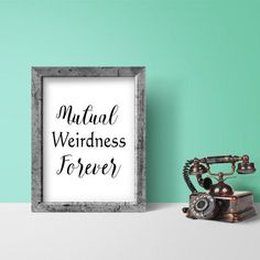 Show off your inner weirdness with this fun weird print. Great for the fellow geek this weird poster would make a fun gift for your significant other. No printer, no problem, just send the file to your local photo lab.