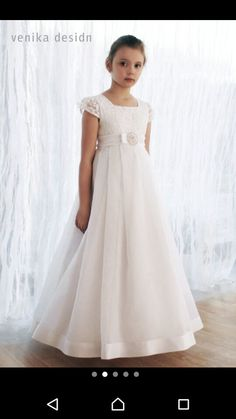 2020 New Arrival Short Sleeve Lace Flower Girl Dresses Vestido de Comunion First Communion Dresses for Girls 10 12 Pageant - Welt der Hochzeit Cheap Flower Girl Dresses, Lace Flower Girls, Little Girl Dresses, Girls Dresses, Cheap Dresses, Wedding Party Dresses, Bridesmaid Dresses, Holy Communion Dresses, Baptism Dress