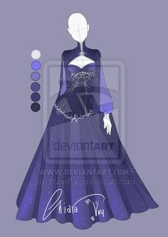 :: Adoptable Star Outfit: Auction CLOSED:: by VioletKy on DeviantArt <--- Ha! Found it again. Reference for Islinde's ballgown