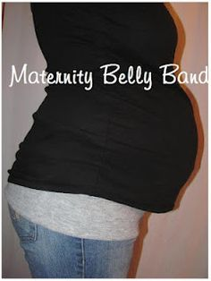 Maternity Belly Band...cheap to make as gifts or for next time in pregnant.