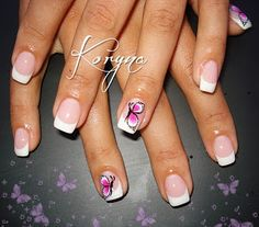 .: classic french gel nails