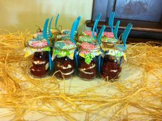 Cupcakes in Mason jars - cute for a country or western themed bridal shower or wedding