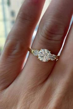 VintageAntique Yellow Gold Two-Tone Engagement Ring with White SapphireTopaz Trilogy Ring Promise Ring Wife Unique Gift for Her Rare