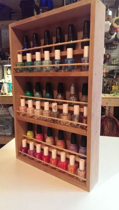 Nail Polish Rack. Aron, make it happen.