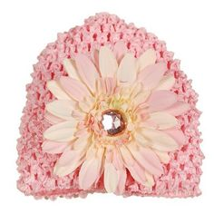 $14.99-$30.00 Baby Unique flower hat by Reflectionz. Perfect for your infant and baby girl. Rhinestone detail in center of hat. Perfect for your baby girl.