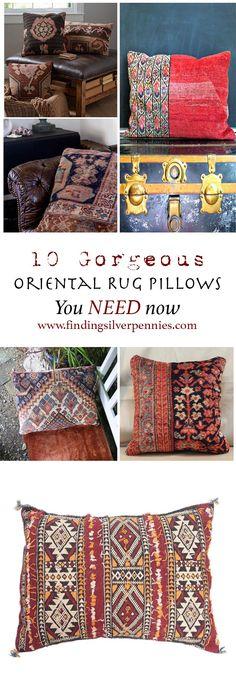 10 Gorgeous Oriental Rug Pillows