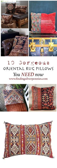 10 Gorgeous Oriental Rug Pillows