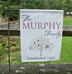 Flag, Family Tree Flags - Personalized Flags - Garden Flags  - Country Flags - Family Name Flags - MURPHY by SimplySaidSayings on Etsy https://www.etsy.com/listing/208045548/flag-family-tree-flags-personalized