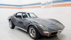 Gray 1970 Chevrolet Stingray Corvette V8 automatic Classic car! Used car for sale in Houston Heights 77008,  Montrose 77006, Allen Pkwy 77019, Memorial Park 77007, Baytown 77571, NASA 77586, Corpus Christi TX 78419, San Antonio TX 78148, Fort Worth TX 75569 Visit http://www.southcoastautos.com