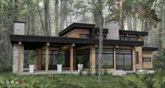 Modern home design Modern Wooden House, Contemporary House Plans, Modern House Design, Modern Exterior, Exterior Design, Small Modern Home, Modern Ranch, House Goals, Future House