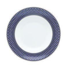 Royal Limoges Blue Star Rimmed Soup Plate