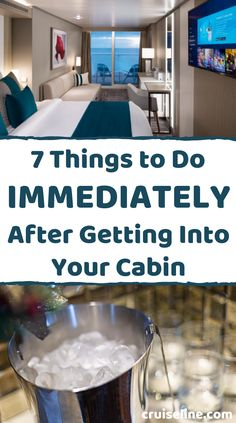 There are several things you should do right when you get into your cabin for the first time. We go through the must-do's. #cruise #travel #vacation cruise tips travel cruising