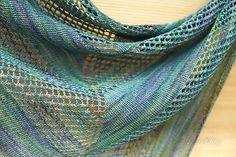 Asymmetry pattern by Yulia Tkachenko | malabrigo Sock in Indiecita