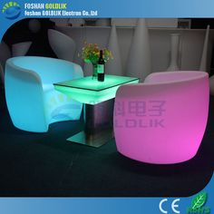 used nightclub furniture illuminated bar tables and chairs www.goldlik.com