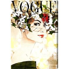 Splash a vintage Vogue cover on your wall with the Oliver Gal Mauve Leaves Canvas Wall Art . Green Wall Art, Leaf Wall Art, Floral Wall Art, Leaf Art, Leaf Prints, Canvas Art Prints, Painting Prints, Canvas Wall Art, Oliver Gal Art