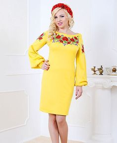 Elegant Embroidered Dress smart dress plus size by Ethnicfantasy
