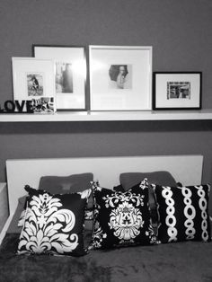Ikea room idea - Love the gray and black n white!
