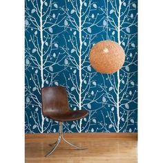 """Add a touch of organic and a dashof glam with this tree wallpaper. With the vibrant coloration and rustic chic pattern, this wall covering will update any wall in your contemporary modern home.  21""""W 11 Yard Roll Repeat: 20.8"""" Wall Smart Wallpaper Non-Woven Fleece"""