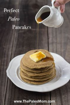 These plantain-based pancakes are not dense; instead they are so light and fluffy. They cook quickly, and are so easy to flip.