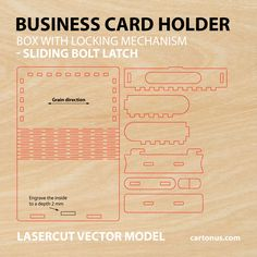 Wooden box with sliding bolt latch Vector plan by cartonus.deviantart.com on @DeviantArt