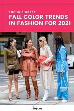 According to the experts at the Pantone Color Institute, the most popular colors for clothing and accessories this fall are bright, bold and extra playful. Here's how to wear all ten shades. #fall #color #trends Color Trends, Grey Maxi, Popular Colors, Street Style Looks, City Chic, Night Outfits, Pantone Color, What To Wear, Autumn Fashion