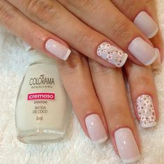 Francesinha Great Nails, Perfect Nails, Cute Nails, Nails Now, My Nails, Fancy Nails, Pink Nails, Stylish Nails, Manicure And Pedicure