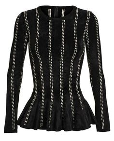 AZZEDINE ALAÏA | Notched Fleece Wool Top