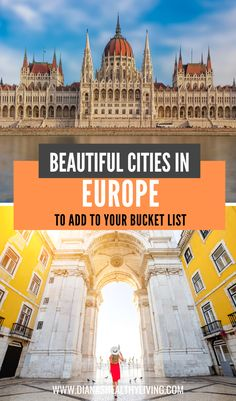 Are you planning your summer vacation? Here are the top cities to add to your Europe bucket list. Find the best places to travel in Europe! European Travel Tips, European Vacation, Europe Travel Guide, European Destination, Travel Guides, Portugal Travel, Spain Travel, Greece Travel, Italy Travel