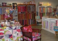 Patchwork & quilting experts, famous for our range of Kaffe Fassett fabrics. Visit our Auckland store or shop online. Cool Canes, Sewing Machine Service, Art Studios, New Zealand, All Things, Armchair, Quilting, House Design, Island