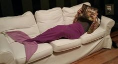 Mermaid Tail Blanket by MarroccoProductions on Etsy