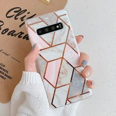Luxury Plating Geometric Marble Phone Case For Samsung Galaxy phone cases from our store and get up to off. You will not find this rare cases in any other store, so grab this Limited Time Discount Now! Girly Phone Cases, Phone Cases Samsung Galaxy, Iphone Cases, Galaxy Phone, Estilo Converse, Phone Cases Marble, Newest Cell Phones, Phone Plans, Cute Cases