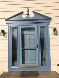 Door Surround Is Made Of A Fypon Custom Door Surround In Geneva Blue Match.  Storm