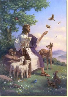 beautiful paintings of jesus | Jesus with Animals | Beautiful Art
