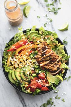 Fiesta Lime Chicken Salad with Chipotle Dressing 17 Summer Salads To Bring To A Huge Summer Cookout Summertime Salads, Easy Summer Salads, Easy Salads, Summer Recipes, Chicken Fiesta Salad Recipe, Fiesta Lime Chicken, Healthy Recipes, Salad Recipes, Healthy Foods