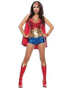 Women's Sexy Wonder Lady Costume | Wholesale SuperHeroes Costumes for Adults
