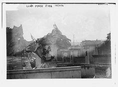 Luna Park Fire, Dec. 1911.  Coney Island, New York