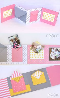 Make this fun Envelope Birthday Book with the new Punch Boards from We R Memory Keepers! #HSNPartyPack