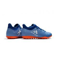 a6a7adbef6 Comprar Chuteira Society Adidas X 17.1 TF Azul laranja Branco
