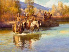 Fall Camp On The Blue Green | Jim C. Norton Fine Art