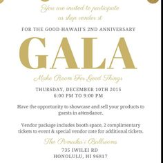 #supporting @forthegoodhawaii gala event taking place on Thursday Dec 10th! - Vendors and attendees register today #rushwahine receive special vendor rates. - Join us at #RUSHkula this Friday November 20th 830-10a @seedhawaii featuring #ceo @richelmarie of For the Good Hawaii to network and learn. Richel is giving away faka tickets as her #doorprize mahalo  - Register today http://ift.tt/1WhCWqN - members please share & reminder to register:  @terrafoti @hey_boss_lady @kayeputnam @shansh1125…
