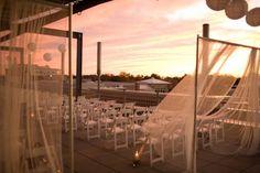 Beautiful rooftop wedding at VisArts at Rockville.