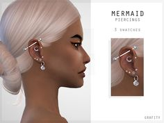 The Sims 4 Mermaid Piercings Sims 4 Cc Eyes, Sims 4 Mm Cc, Sims 4 Cc Skin, Sims Four, Packs The Sims 4, Die Sims 4 Packs, Los Sims 4 Mods, Sims 4 Game Mods, Sims 4 Mods Clothes