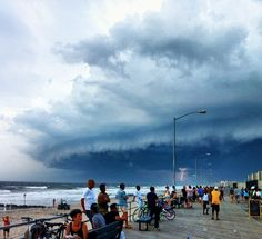 Awesome NYC storm, photo taken at Rockaway Beach, via Gothamist