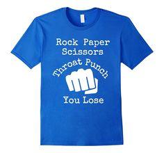 Rock Paper Scissors Throat Punch - Funny Martial Arts Shirt