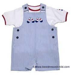 Perfect shortall for summer...next summer that is. My boys had these and looked adorable!