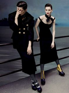 anne verhallen and kaitlin aas by inez and vinoodh